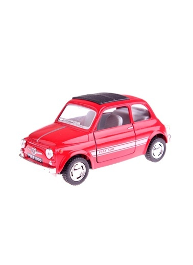 Fiat 500 1/38 Çek Bırak Die-cast Model Araç.-Kinsmart